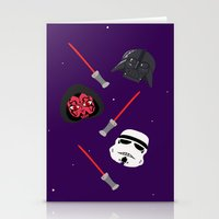 dark side Stationery Cards featuring dark side by ptero