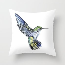 Flying hummingbird Throw Pillow