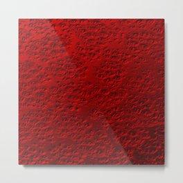 Damaged red metal Metal Print