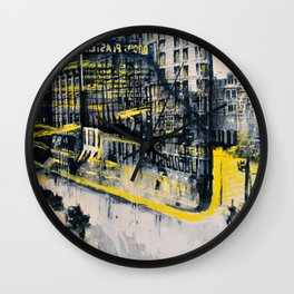 Flatiron Mixed Media Wall Clock