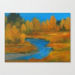 Anchor River Gold Canvas Print