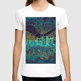 louisville skyline abstract T-shirt