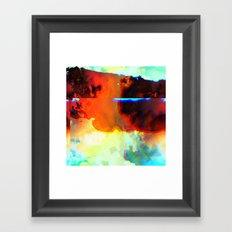 23-03-44 (Cloud Glitch) Framed Art Print