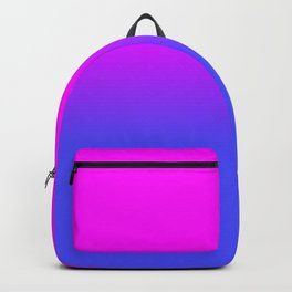 Neon Blue and Hot Pink Ombré Shade Color Fade Backpack