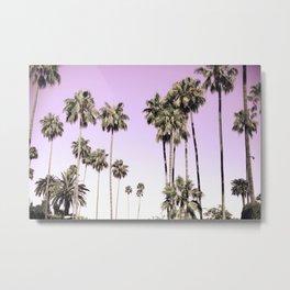 Beverly Hills Palm Trees Metal Print