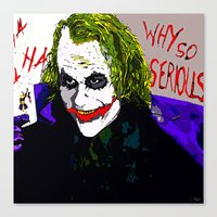 joker Canvas Prints featuring joker by Saundra Myles