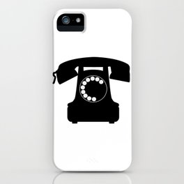 Traditional Telephone Icon iPhone Case