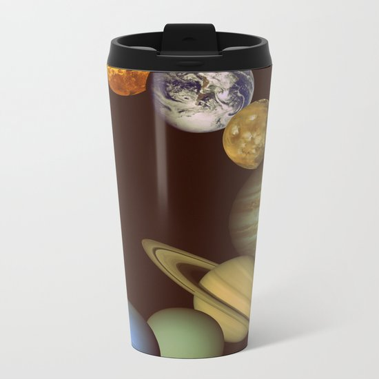 The Solar System Metal Travel Mug