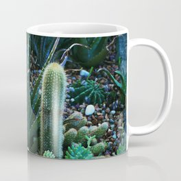 Green Teal Succulent Garden Night Coffee Mug