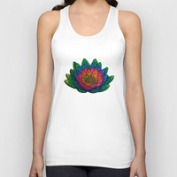 lotus flower Tank Tops featuring Lotus  by Luna Portnoi