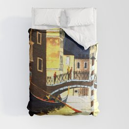 Evening In Venice Italy Comforters
