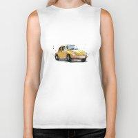 vw Biker Tanks featuring VW Beetle by Carlos Quiterio