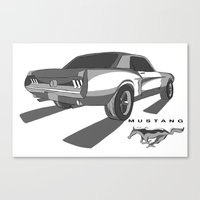 mustang Canvas Prints featuring Mustang by Mister Abigail
