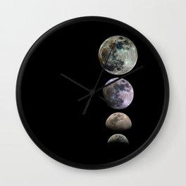 Minimal Mineral Moons Wall Clock