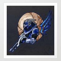 garrus Art Prints featuring Garrus by Talianora