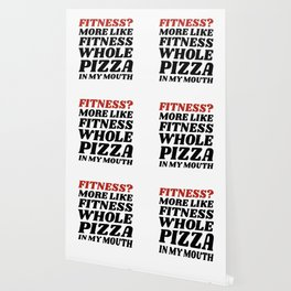 Fitness? More Like Fitness Whole Pizza In My Mouth Wallpaper