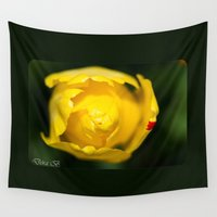tulip Wall Tapestries featuring Tulip by Dora Birgis