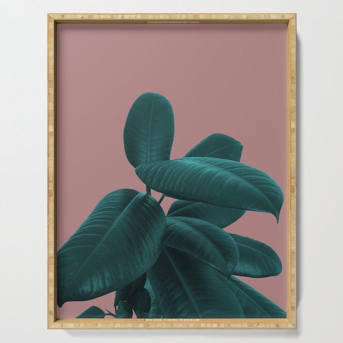 Ficus Elastica #9 #AshRose #decor #art #society6 Serving Tray