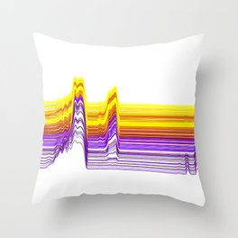 Fe Lines in Neon Colors Throw Pillow
