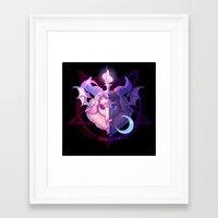 baphomet Framed Art Prints featuring Baphomet (MIXED) by Gunkiss