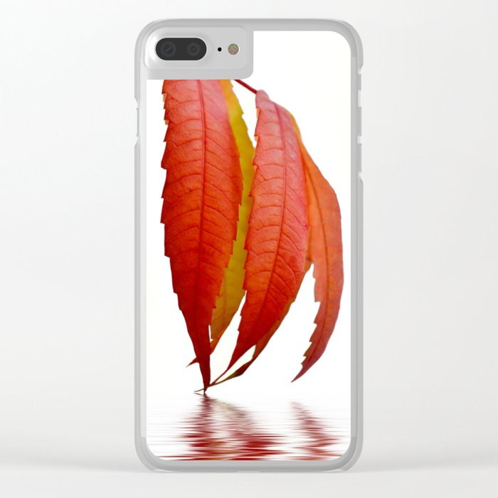 Autumn Foliage 183 Clear iPhone Case
