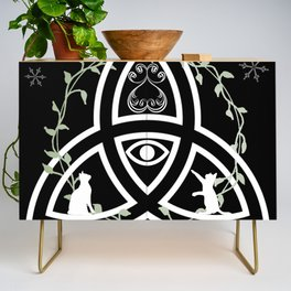 Celtic Knot, Evil Eye, and Cats Credenza