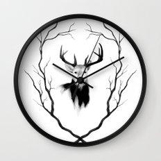 DEER REVISITED Wall Clock