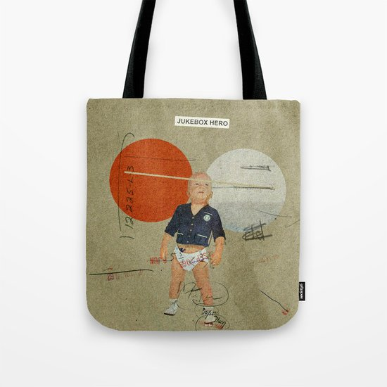 Jukebox Hero | Collage Tote Bag