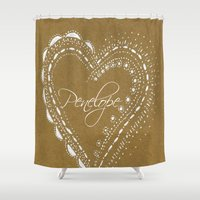 lace Shower Curtains featuring lace by L Step