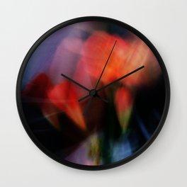 Futurists flowers  Wall Clock