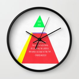 Start Here Wall Clock
