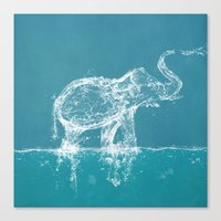 yetiland Canvas Prints featuring Elephant by Paula Belle Flores