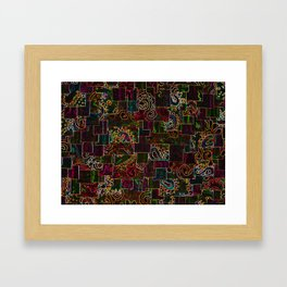 Batik Mosaic Fractal Mixed Framed Art Print
