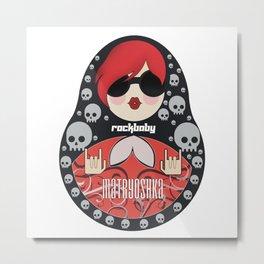 Matryoshka rock star Russian doll Metal Print