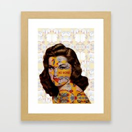 No More Kitchen Appliances for my Birthday Framed Art Print
