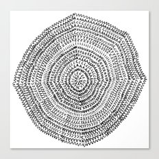 Vacancy Zine Mandala I B&W Canvas Print