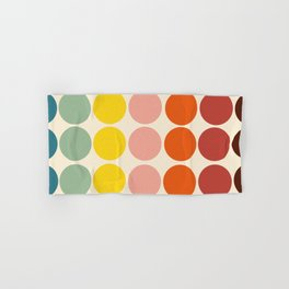 Classic Freehand Retro Bubbles And Dots Hand & Bath Towel