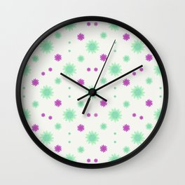 Stars Motif Multicolored Pattern Wall Clock