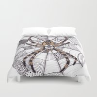 spider Duvet Covers featuring Spider by Laura Maxwell