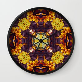 Patterned Paintography  Wall Clock