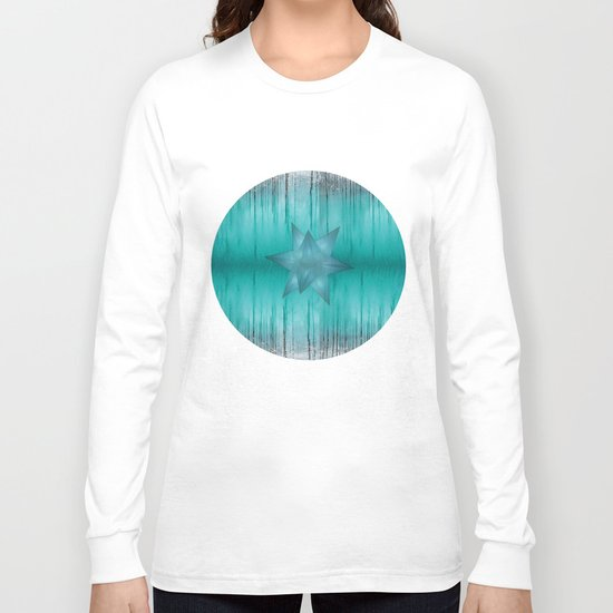 Crystal frozen star forest Long Sleeve T-shirt