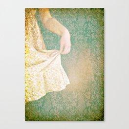 The Yellow Dress. Canvas Print