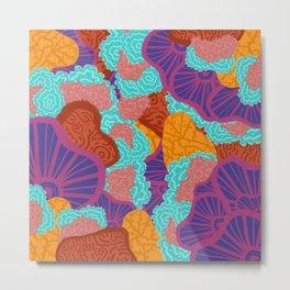 Wild Corals Metal Print