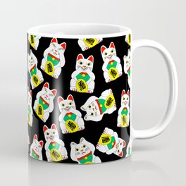 Funny Wise Lucky Rich Cats Coffee Mug