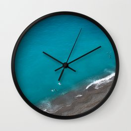 Positano Beach Umbrellas Wall Clock