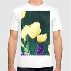 Spring Blooms Mens Fitted Tee White MEDIUM