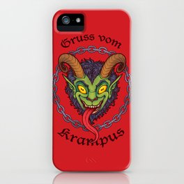 Gruss vom Krampus iPhone Case