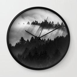 Fog Invasion, San Francisco Bay Area Wall Clock