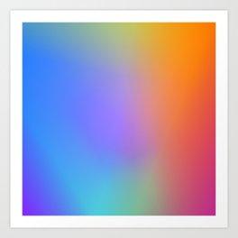 Colorful Multicolor Rainbow Gradient / GFTgradient011 Art Print