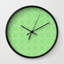 green circles a Wall Clock